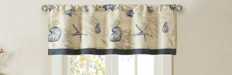 100% Cotton Printed Window Valance - Navy MP41-3764