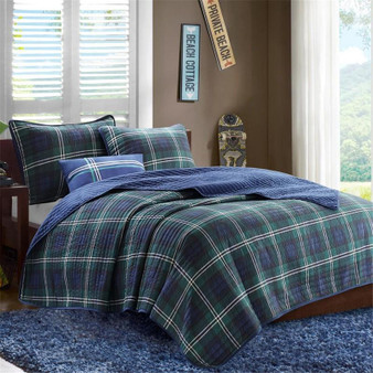 100% Polyester Microfiber Printed Quilt Set - Full/Queen MZ80-294