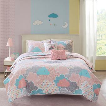 100% Cotton Printed 5Pcs Coverlet Set - Full/Queen UHK13-0016