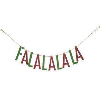 """Fa La La"" Wooden Garland"