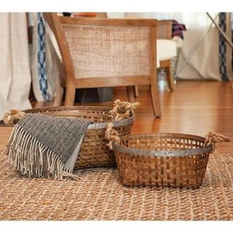 Set Of 3 Round Baskets