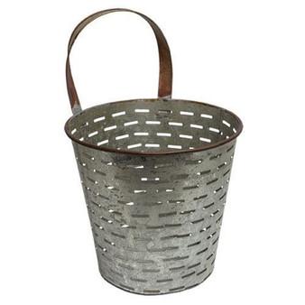 Galvanized Metal Olive Bucket