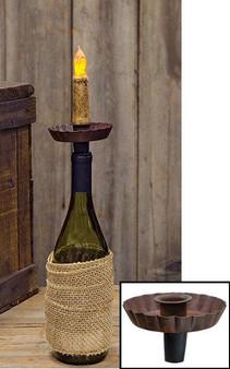 Rust Wine Bottle Taper Holder (5 Pack)