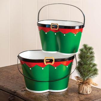 (Set Of 2) Elf Pants Buckets