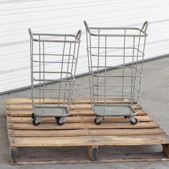 (Set Of 2) Heavy Duty Rolling Storage Baskets