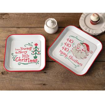 (Set Of 2) Christmas Trays