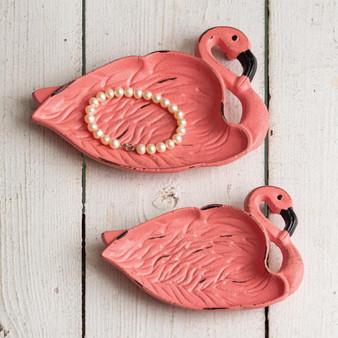 (Set Of 2) Flamingo Dishes - Box Of 2