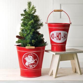 (Set Of 2) Holiday Buckets