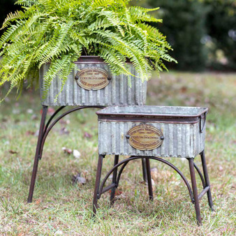 """(Set Of 2) """"Poland"""" Tubs With Stands"""