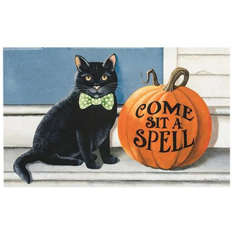 *Come Sit A Spell Decorative Mat G00398
