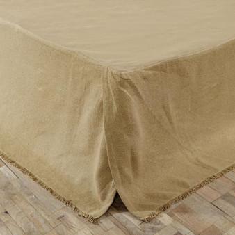 *Burlap Fringed King Bed Skirt G17129