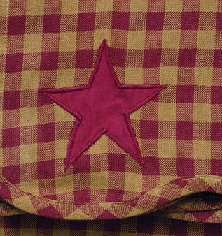 *2/Set Burgundy Star Scalloped Panels G20223