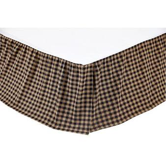 *Black Check King Bed Skirt G20254