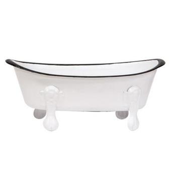 White Iron Bathtub Soap Dish G70059