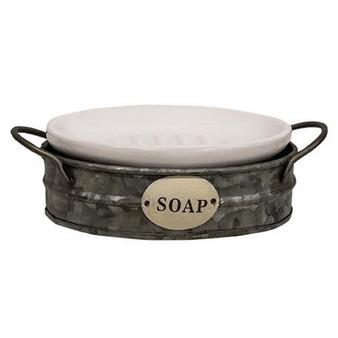 Galvanized Wash Bin Soap Dish G65141