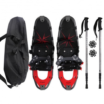 Aluminum All Terrain Sports Snowshoes With Walking Poles & Free Carrying Bag (Sp34767)