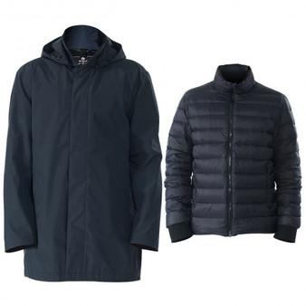 Black Men'Sâ Interchangeâ 3Â Inâ 1Â Waterproof Detachable Skiâ Jacket-Xl (Gm11901003Bk-Xl)