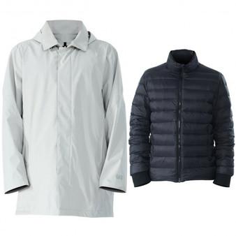 Gray Men'Sâ Interchangeâ 3Â Inâ 1Â Waterproof Detachable Skiâ Jacket-L (Gm11901003Gr-L)