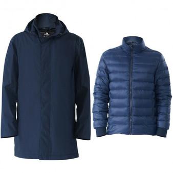 Navy Men'Sâ Interchangeâ 3Â Inâ 1Â Waterproof Detachable Skiâ Jacket-L (Gm11901003Ny-L)