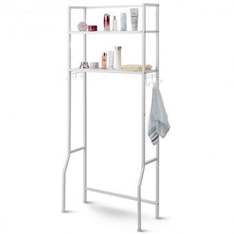 White 2 Tire Space Saver Storage Rack For Bathroom (Hw57751)