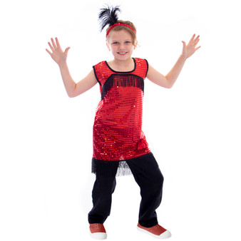 1920S Flapper Costume, 8-10 MCOS-431YL