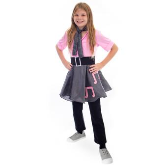 50S Sock Hop Costume Poodle Skirt, 8-10 MCOS-434YL