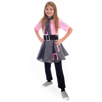 50S Sock Hop Costume Poodle Skirt, 3-4 MCOS-434YS