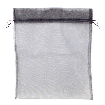 Large (12In X 14In) Black Organza Bag With Drawstrings MORG-201