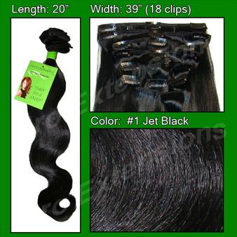 #1 Jet Black - 20 Inch Body Wave PRBD-20-1