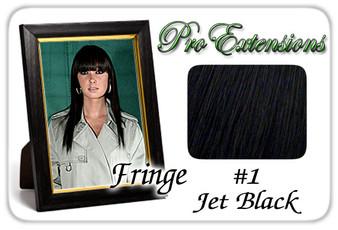 #1 Jet Black Pro Fringe Clip In Bangs PRFR-1