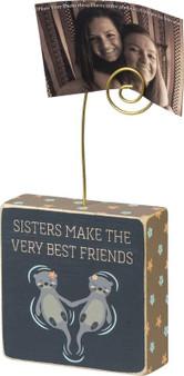 100931 Photo Block - Sisters Make - Set Of 4 (Pack Of 4)