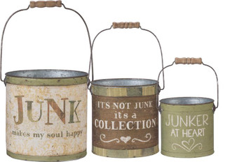100293 Bucket Set - Junk Happy - Set Of 2 (Pack Of 2)