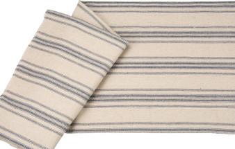 27421 Fabric - Cream, 12 Blue Stripe - Set Of 12