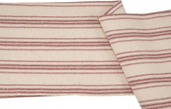 27420 Fabric - Cream, 12 Red Stripes - Set Of 12