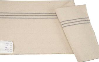 27416 Fabric - Cream, 9 Blue Stripes - Set Of 12