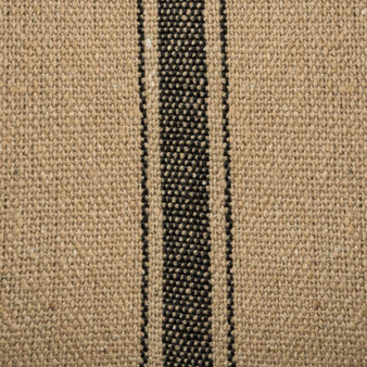 19643 Fabric - Dark, 3 Black Stripes - Set Of 12