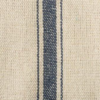 19642 Fabric - Cream, 3 Blue Stripes - Set Of 12