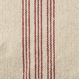 19641 Fabric - Cream, 9 Red Stripes - Set Of 12