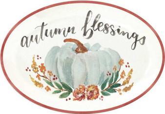 104012 Platter - Autumn Blessings - Set Of 2