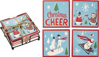 102801 Coaster Set - Cheer - Set Of 4