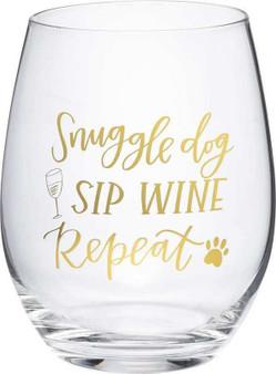 101462 Wine Glass - Dog Sip Wine - Set Of 4