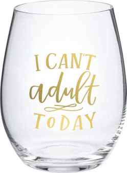 101461 Wine Glass - Can'T Adult Today - Set Of 4