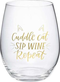 101460 Wine Glass - Cat Sip Wine - Set Of 4