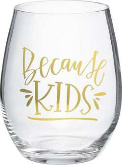 101459 Wine Glass - Because Kids - Set Of 4