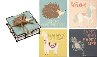 101178 Coaster Set - Animals - Set Of 4