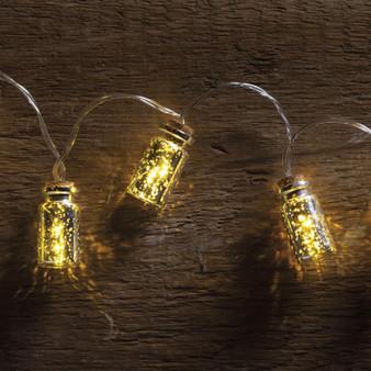 100948 Jar Lights - Silver Mercury - Set Of 4