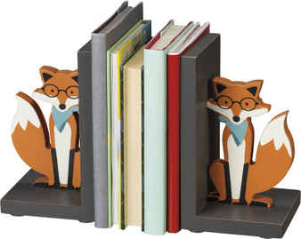 100905 Bookends - Fox - Set Of 2