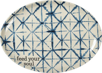 100885 Platter - Feed Your Soul - Set Of 2