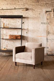 Cobblestone Velvet Club Chair