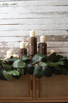 (2 Pack) Artificial Magnolia Garland